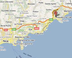 carte littoral Roquebrune-Cap-Martin