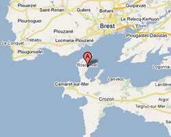 carte littoral roscanvel