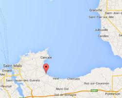 seaside map Saint-Benoit-des-Ondes