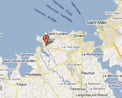 seaside map Saint-Briac-sur-Mer