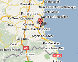 seaside map Saint-Cyprien