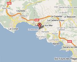 seaside map Saint-Cyr-sur-Mer