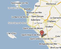 carte littoral Saint-Gilles-Croix-de-Vie