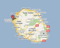 seaside map Saint-Gilles-les-Bains