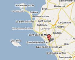 carte littoral Saint-Hilaire-de-Riez