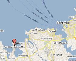 seaside map Saint-Jacut-de-la-Mer