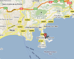 seaside map Saint-Jean-Cap-Ferrat