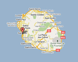 seaside map Saint-Leu