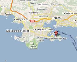 seaside map Saint-Mandrier-sur-Mer