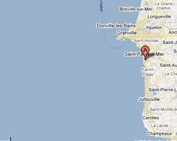carte littoral saint_pair_sur_mer