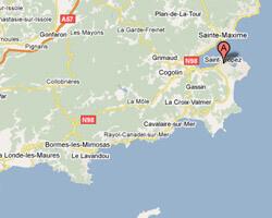 carte littoral Saint-Tropez