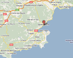 seaside map Sainte-Maxime