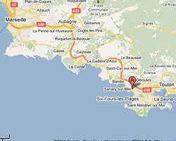 carte littoral sanary_sur_mer
