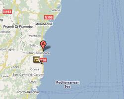 seaside map Sari-Solenzara