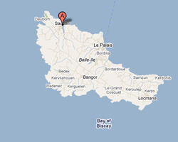 carte littoral sauzon