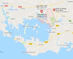 carte littoral sene