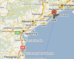 carte littoral sete