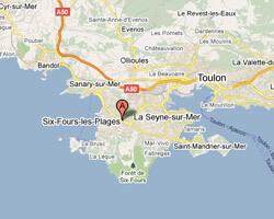 seaside map Six-Fours-les-Plages