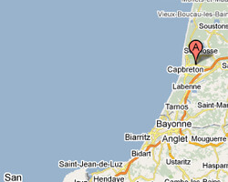 carte littoral soorts_hossegor