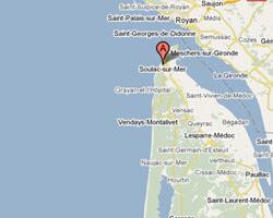 carte littoral Soulac-sur-Mer