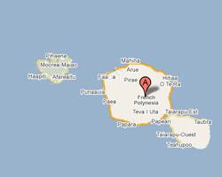 carte littoral tahiti