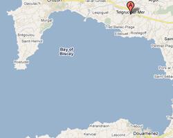 carte littoral telgruc_sur_mer