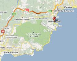 carte littoral theoule_sur_mer