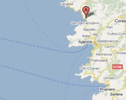 carte littoral Tiuccia-Casaglione