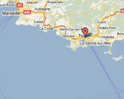 carte littoral toulon