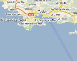 seaside map Toulon area