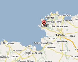 seaside map Trébeurden
