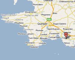 seaside map Trégunc