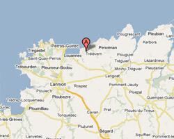 carte littoral Trélévern