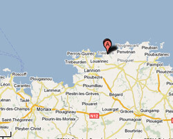 seaside map Trévou-Tréguignec