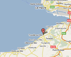 seaside map Trouville-sur-Mer