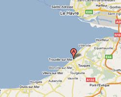 carte littoral Trouville-sur-Mer