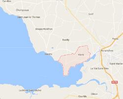 carte littoral vains