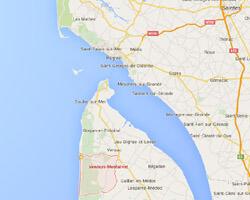 seaside map Vendays-Montalivet