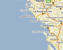 Karte am Meer Vendée, Charente