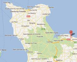 seaside map Vierville-sur-Mer