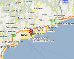 carte littoral Villefranche-sur-Mer