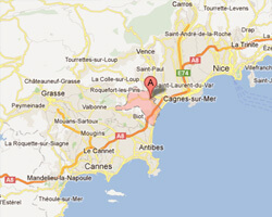 image map Villeneuve-Loubet