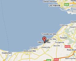 seaside map Villers-sur-Mer
