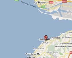 seaside map Villerville