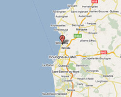 seaside map Wimereux